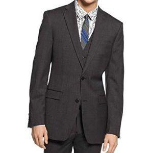 NWT Mens Bar III Slim Fit Active Charcoal Jacket